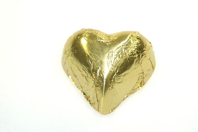 Hartje goud staniol