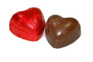 02-21006-Staniol hartje rood 2 stuks