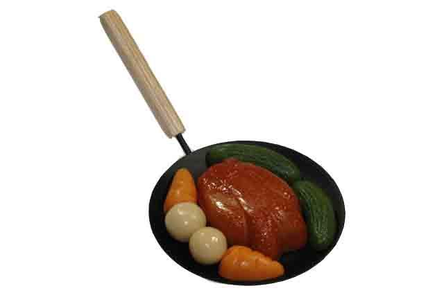 Pan kip en groente
