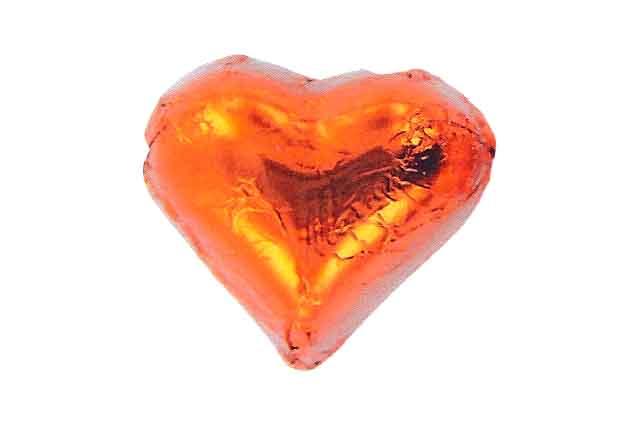 Hart oranje staniol