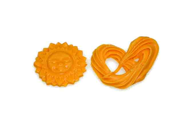 Oranje zon en krakeling