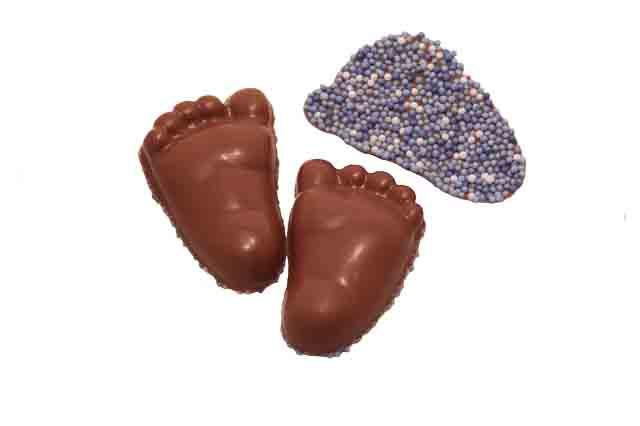 Baby voetjes blauw