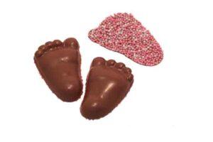 Baby voetjes rose