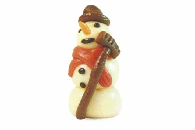 Sneeuwpop marsepein