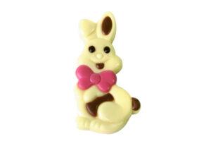 07-40021 Happy Bunny wit met roze strik